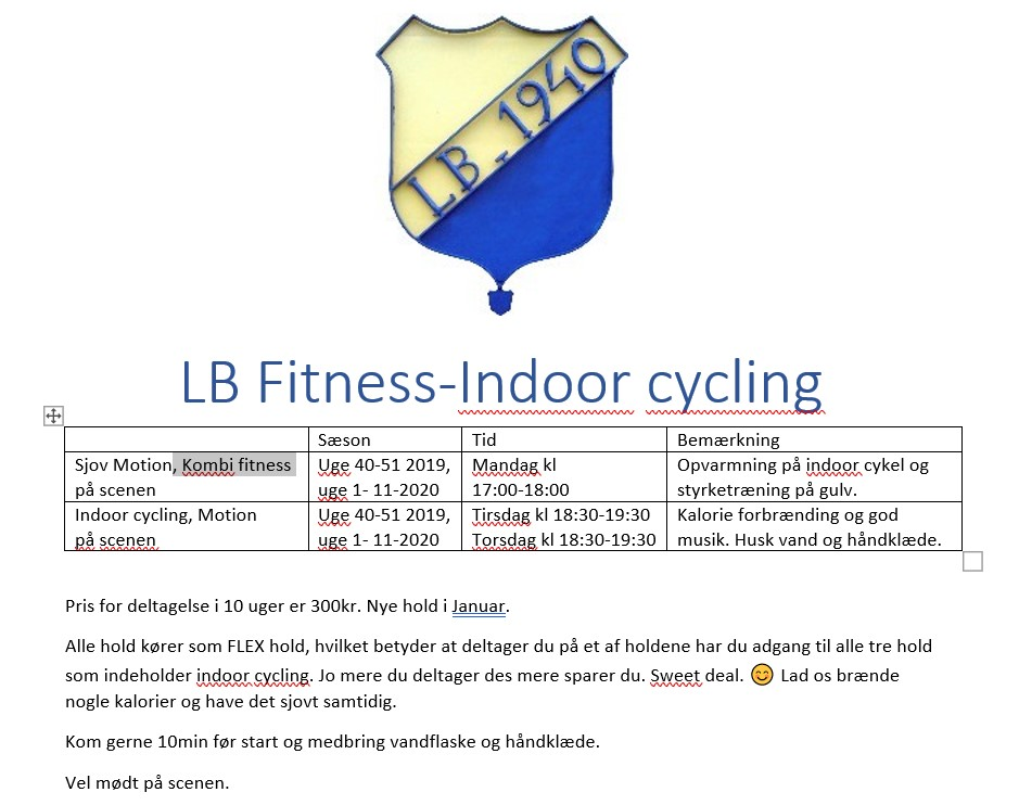 Kombi fitness & Indoor Cycling
