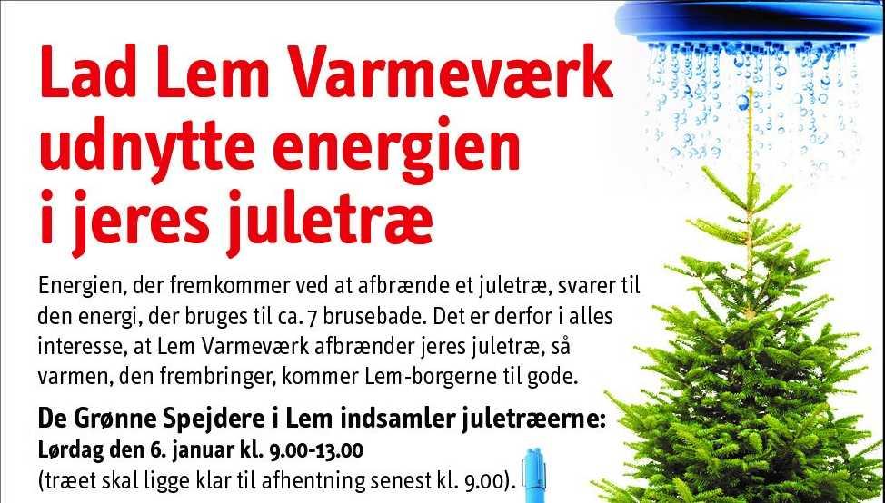 Lad Lem Varmeværk bruge dit juletræ