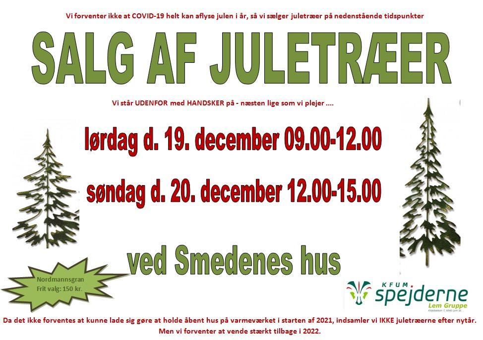 Juletræs salg den 19. og 20. december